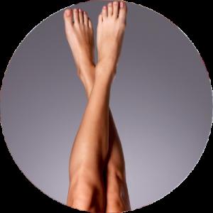Depilacja laserowa nóg.